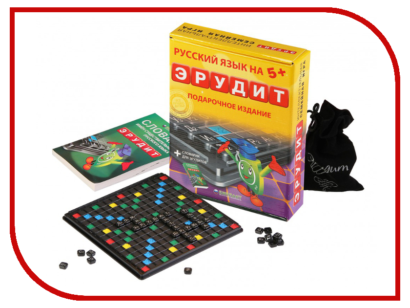 Настольная игра Биплант Эрудит Подарочный набор 10008 настольная игра биплант эрудит сила магнита 10001
