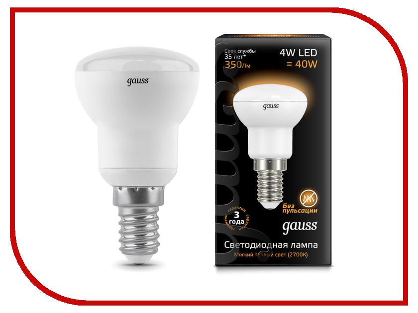 Лампочка Gauss R39 4W 2700K E14 106001104 лампочка econ led r39 4w e14 54010