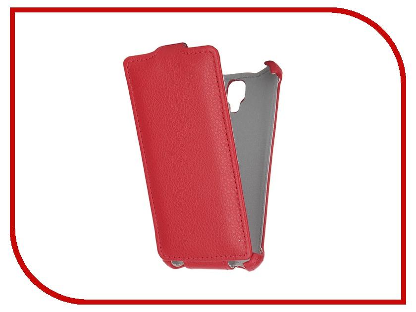 Аксессуар Чехол Lenovo A1000 Gecko Red GG-F-LENA1000-RED<br>