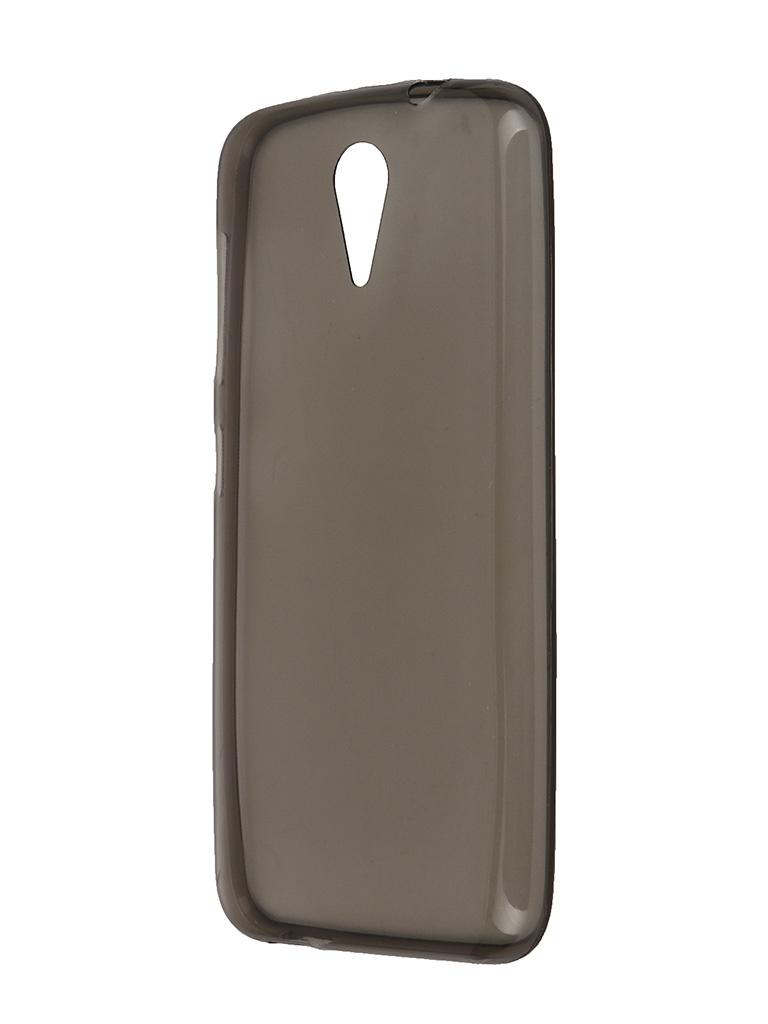 Аксессуар Чехол HTC Desire 620 Krutoff Transparent-Black 10694<br>