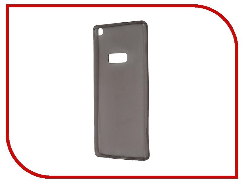 Аксессуар Чехол Huawei P8 Krutoff Transparent-Black 11594<br>