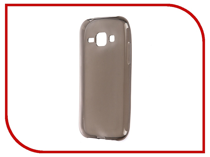 Аксессуар Чехол-накладка Samsung SM-J100FN Galaxy J1 Krutoff Transparent-Black 11522<br>
