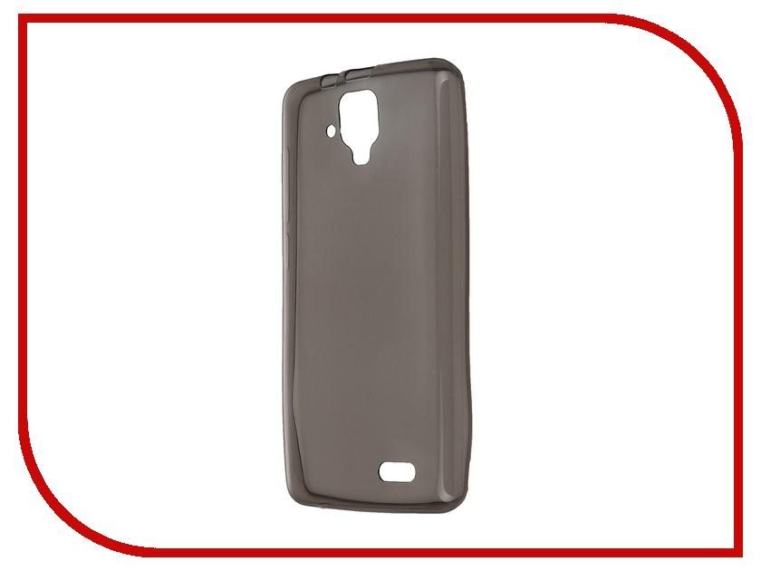 Аксессуар Чехол Lenovo A536 Krutoff Transparent-Black 10227<br>
