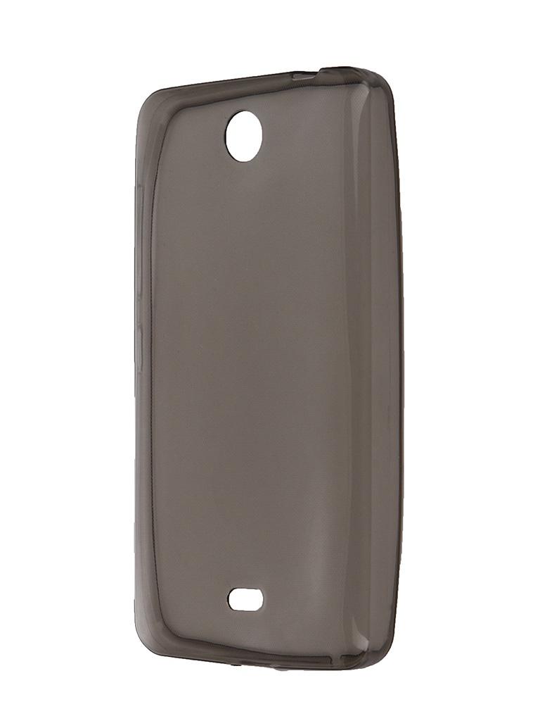 Чехол Krutoff для Nokia Lumia 430 Transparent-Black 10251