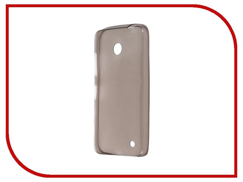 Аксессуар Чехол Microsoft Lumia 630 Krutoff Transparent-Black 10263