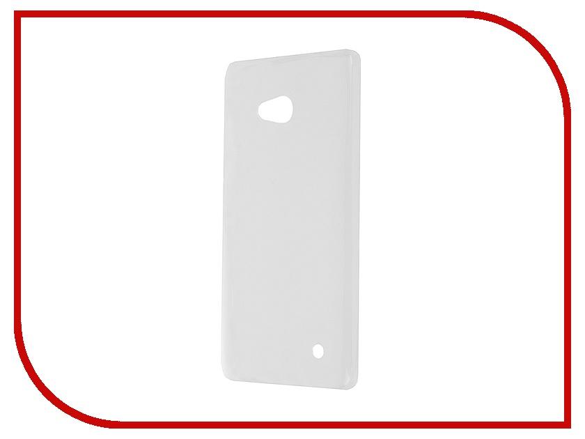 где купить Аксессуар Чехол Microsoft Lumia 640 Krutoff Transparent 10264 дешево