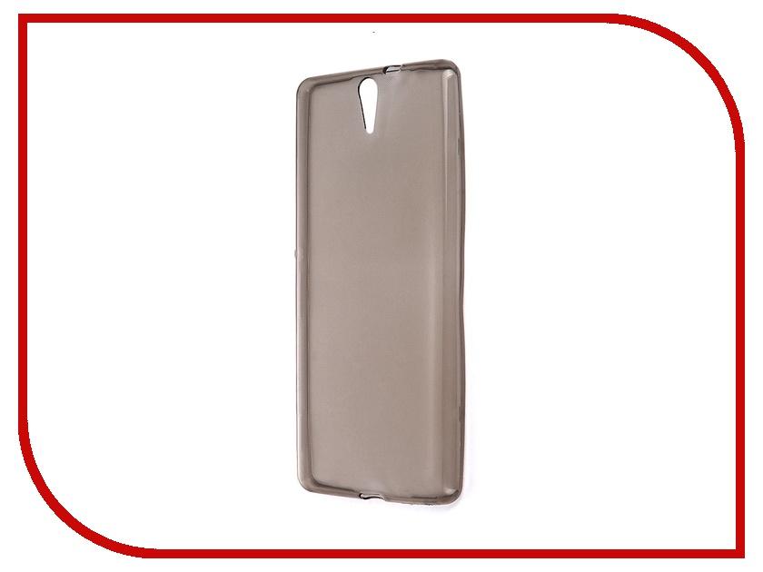 Аксессуар Чехол Sony Xperia C5 Krutoff Transparent-Black 11714<br>