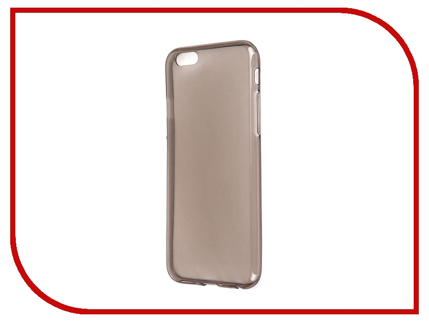 Аксессуар Чехол Krutoff для iPhone 6 Transparent-Black 10675<br>