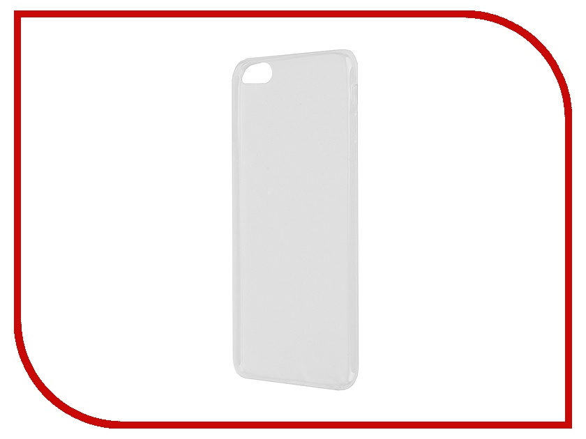 Аксессуар Чехол Krutoff для iPhone 6 Plus Transparent 10676 аксессуар чехол krutoff для iphone 6 transparent black 10675