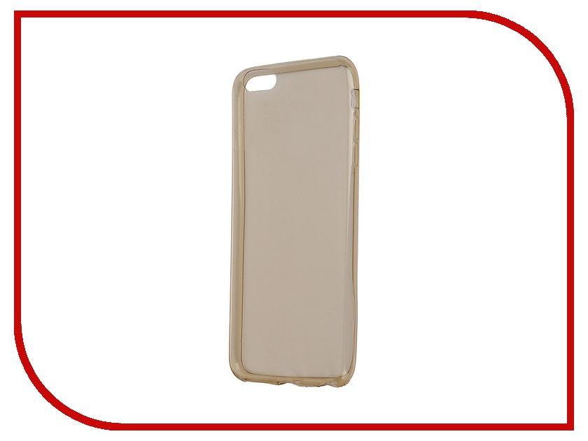Аксессуар Чехол Krutoff для iPhone 6 Plus Transparent-Gold 10677<br>