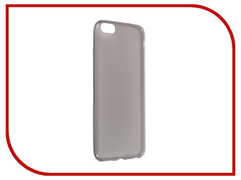 Аксессуар Чехол Krutoff для iPhone 6 Plus Transparent-Black 10678<br>