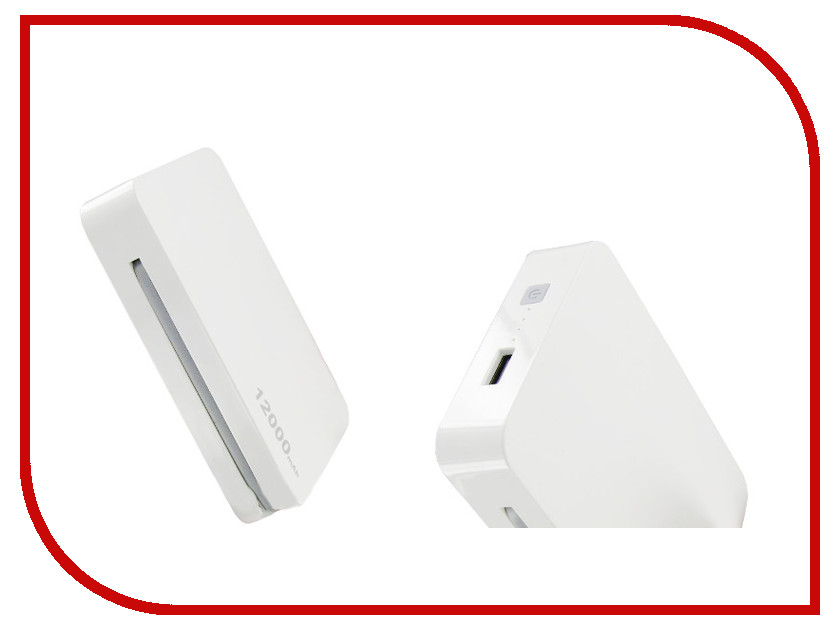 все цены на  Аккумулятор Krutoff H5 12000mAh White 48255  онлайн