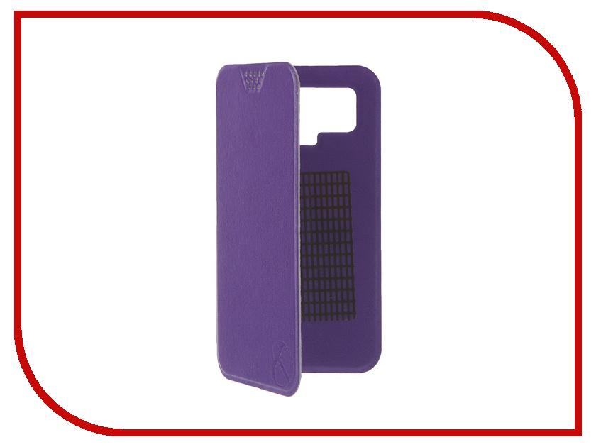 Аксессуар Чехол-книжка Krutoff 5.5-6-inch Purple 10724 с вырезом под камеру