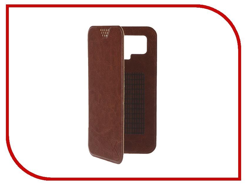 Аксессуар Чехол-книжка Krutoff 5.5-6-inch Brown 10722 с вырезом под камеру<br>