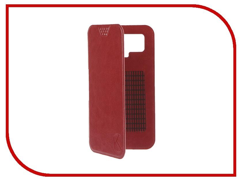 Аксессуар Чехол-книжка Krutoff 5.5-6-inch Red 10721 с вырезом под камеру<br>