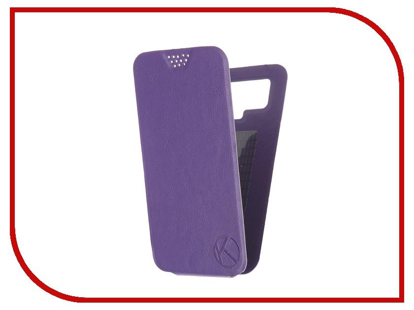 Аксессуар Чехол-флип Krutoff 5.5-6-inch Purple 10718 с вырезом под камеру