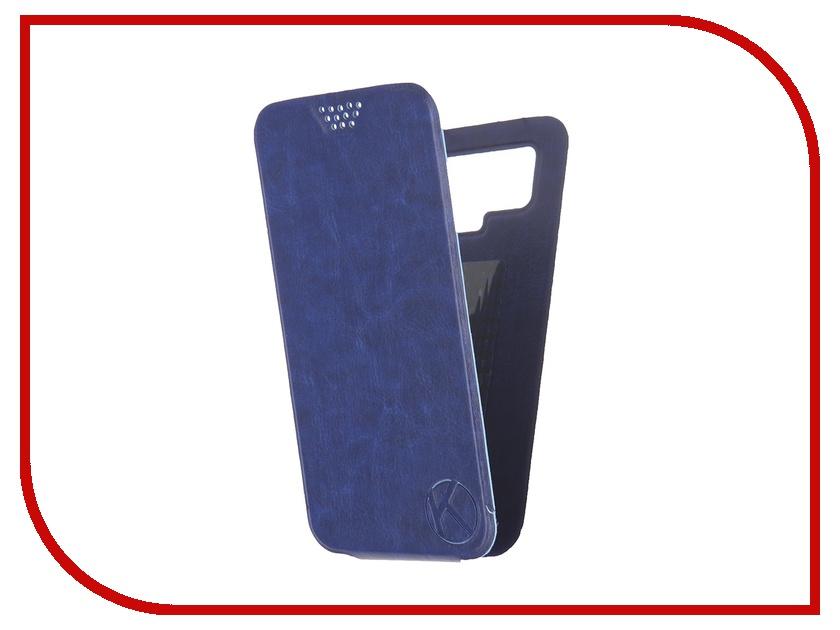Аксессуар Чехол-флип Krutoff 5.5-6-inch Blue 10717 с вырезом под камеру<br>