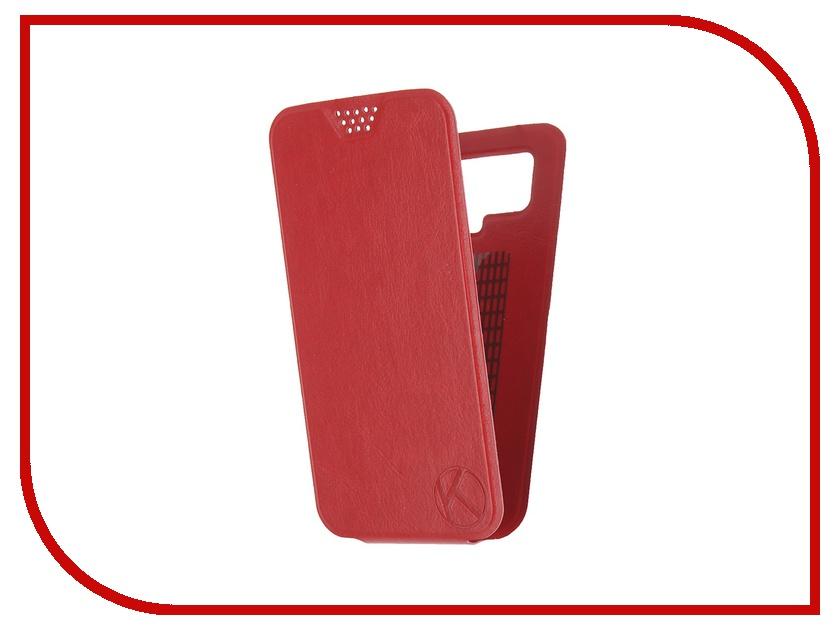 Аксессуар Чехол-флип Krutoff 5.5-6-inch Red 10715 с вырезом под камеру