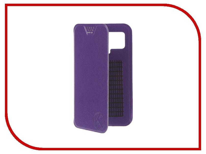 Аксессуар Чехол-книжка Krutoff 4.5-5-inch Purple 10712 с вырезом под камеру<br>