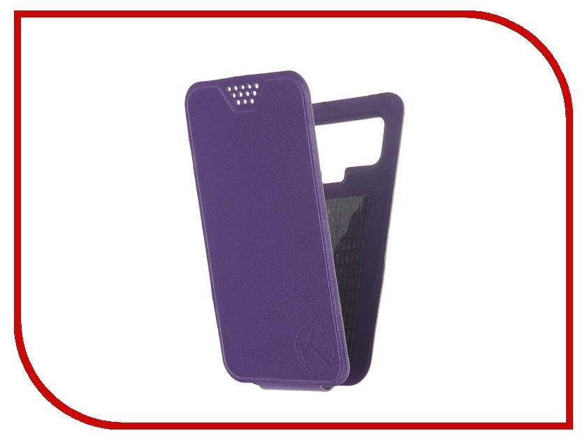 Аксессуар Чехол-флип Krutoff 4.5-5-inch Purple 10706 с вырезом под камеру