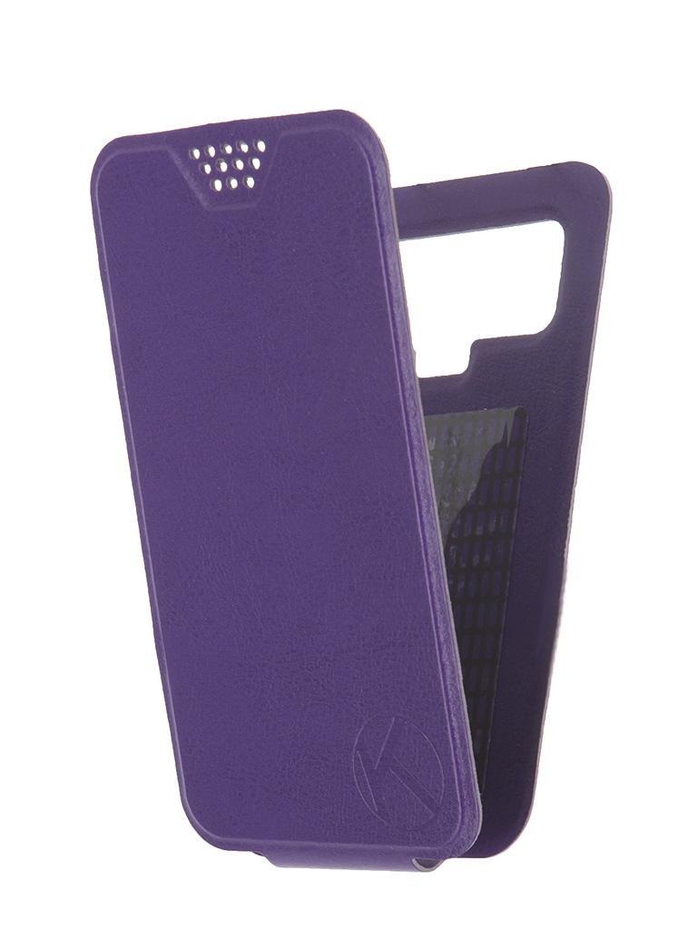 Аксессуар Чехол-флип Krutoff 4.5-5-inch Purple 10706 с вырезом под камеру<br>