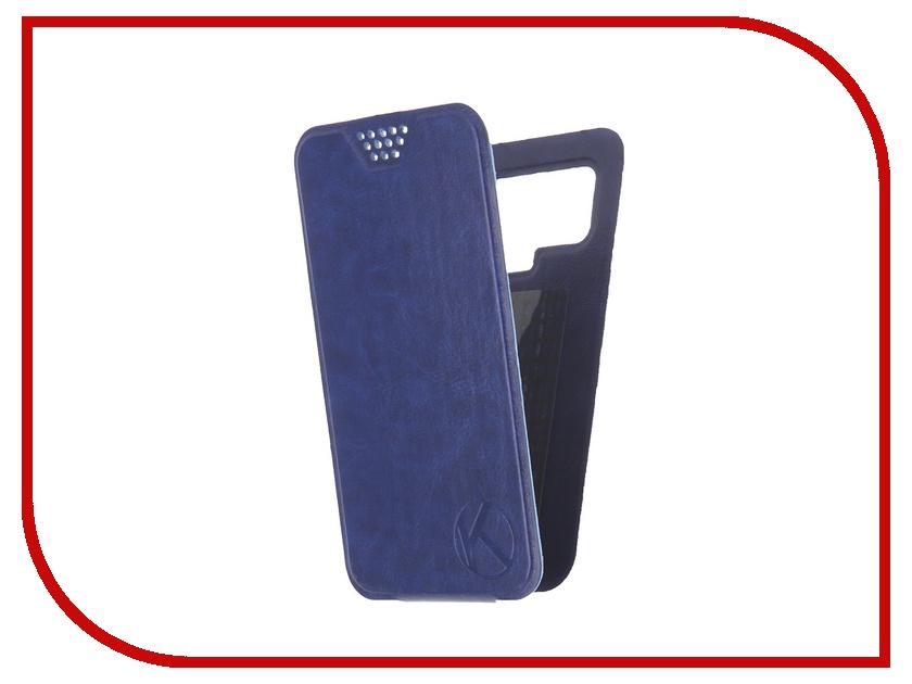 Аксессуар Чехол-флип Krutoff 4.5-5-inch Blue 10705 с вырезом под камеру
