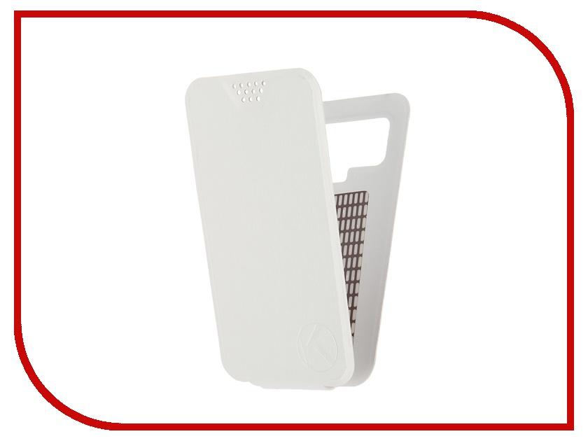 Аксессуар Чехол-флип Krutoff 4.5-5-inch White 10702 с вырезом под камеру