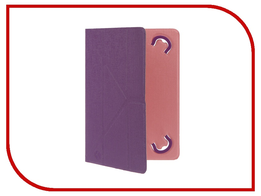 Аксессуар Чехол 8.0-inch Krutoff Purple-Pink 10637<br>