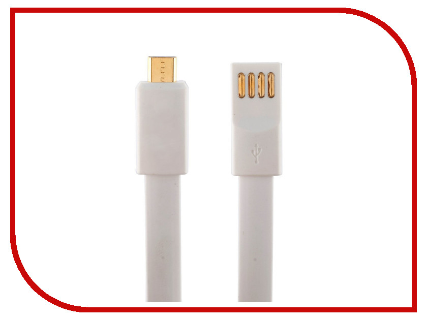 Аксессуар Krutoff USB-MicroUSB 1m White 14101<br>