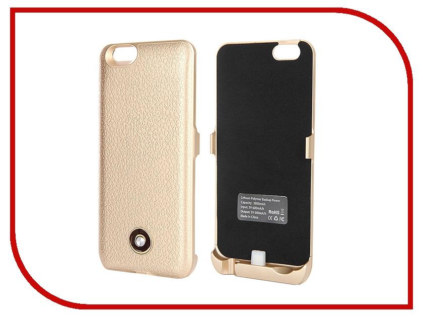 Аксессуар Чехол-аккумулятор Krutoff X3 3800 mAh для iPhone 6 Gold 48088<br>