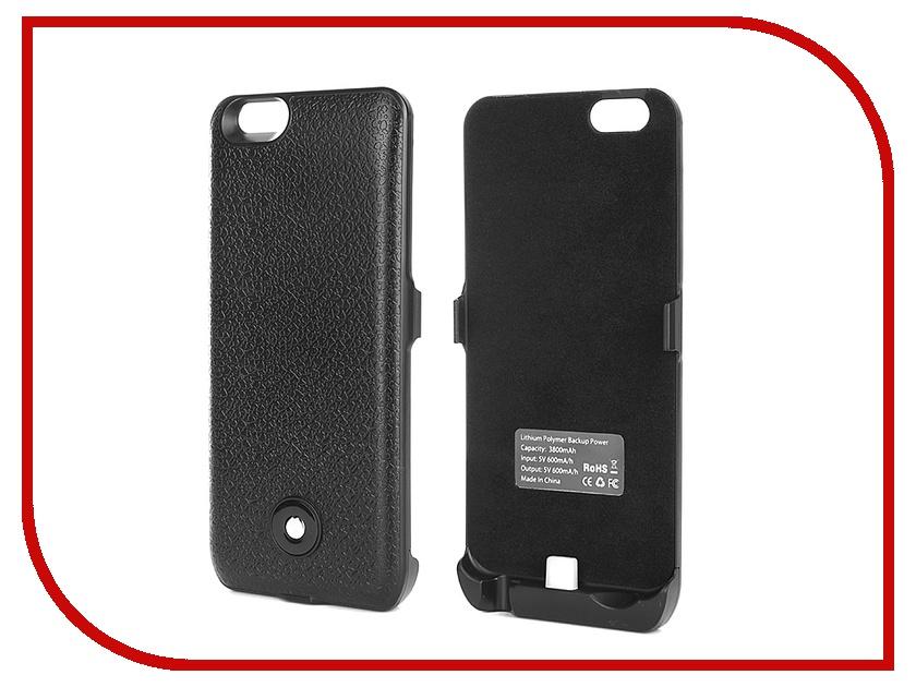 Аксессуар Чехол-аккумулятор Krutoff X3 3800 mAh для iPhone 6 Black 48085<br>