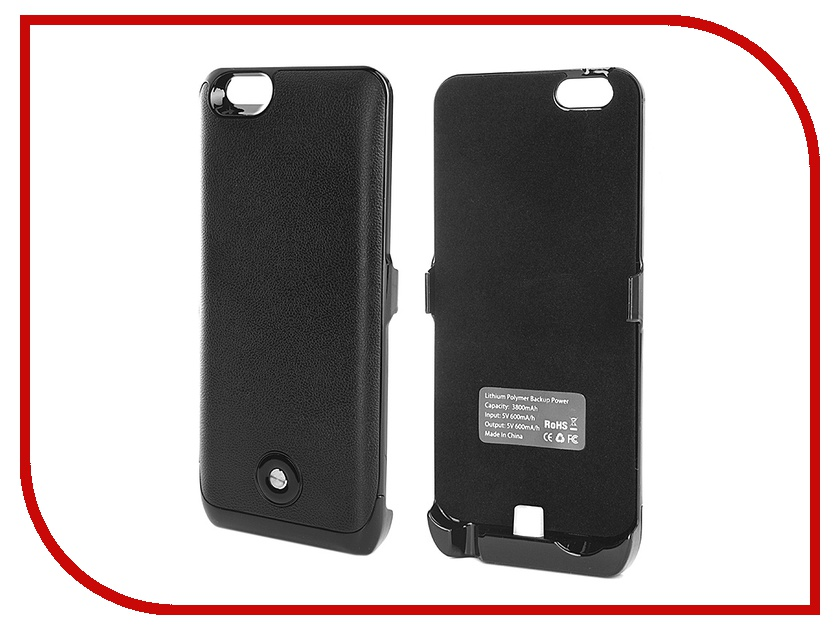 Аксессуар Чехол-аккумулятор Krutoff X2 3800 mAh для iPhone 6 Black 48084<br>