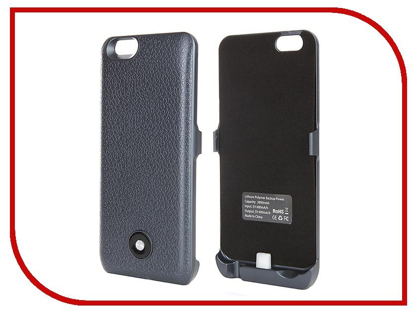 Аксессуар Чехол-аккумулятор Krutoff X3 3800 mAh для iPhone 6 Dark Blue 48086<br>