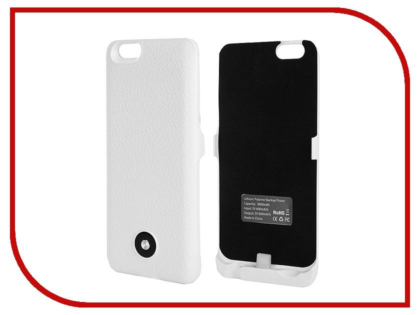 Аксессуар Чехол-аккумулятор Krutoff X3 3800 mAh для iPhone 6 White 48087<br>