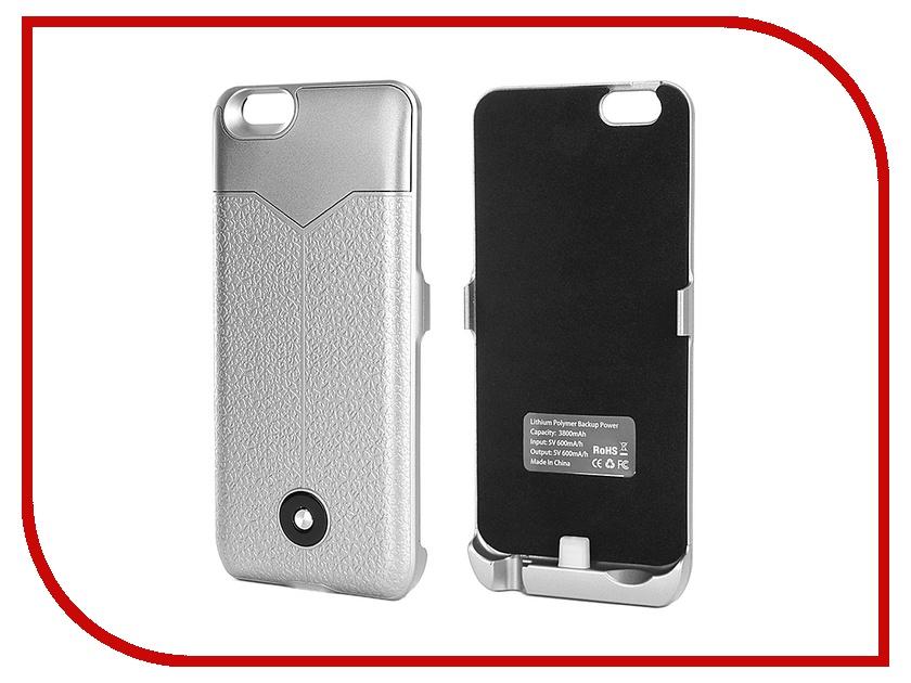 Аксессуар Чехол-аккумулятор Krutoff X3 3800 mAh для iPhone 6 Silver 48089<br>