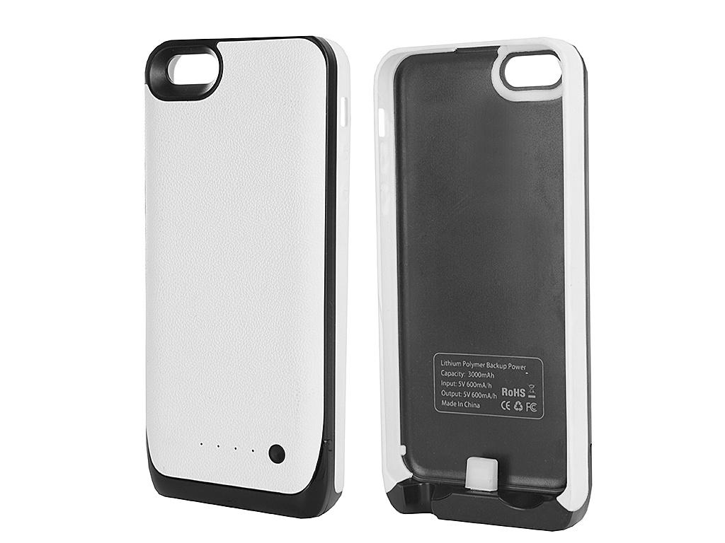 ��������� �����-����������� Krutoff M16 3000 mAh ��� iPhone 5/5C/5S White 48184