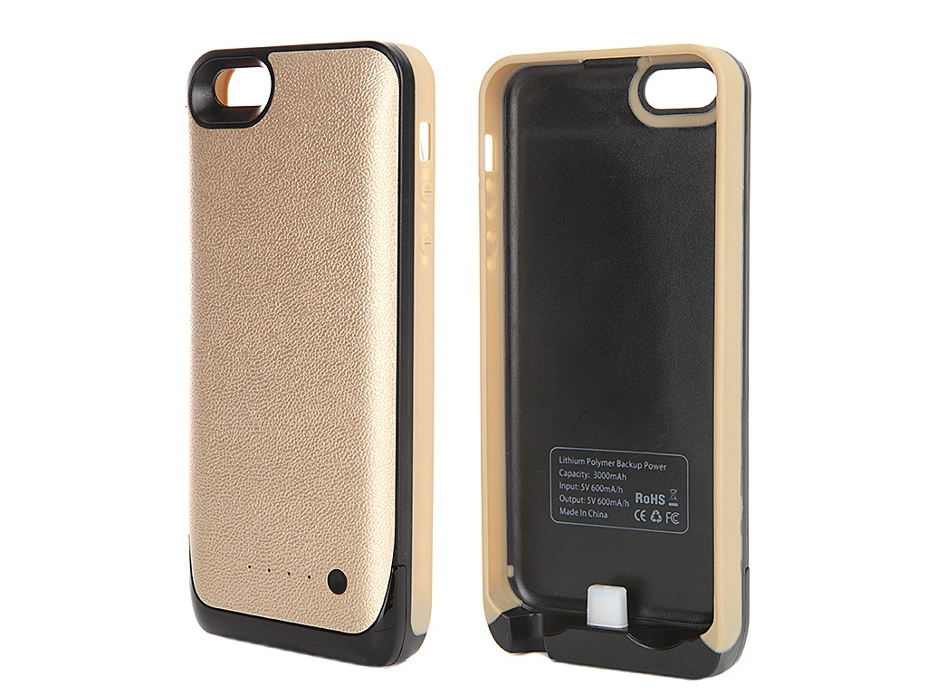 ��������� �����-����������� Krutoff M16 3000 mAh ��� iPhone 5/5C/5S Gold 48185