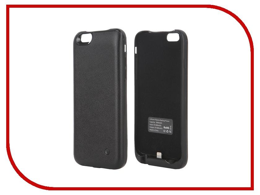Аксессуар Чехол-аккумулятор Krutoff X4 3800 mAh для iPhone 6 Black 48186<br>