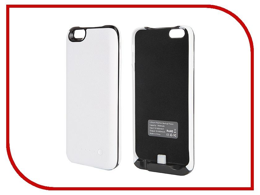 Аксессуар Чехол-аккумулятор Krutoff X4 3800 mAh для iPhone 6 White 48187<br>