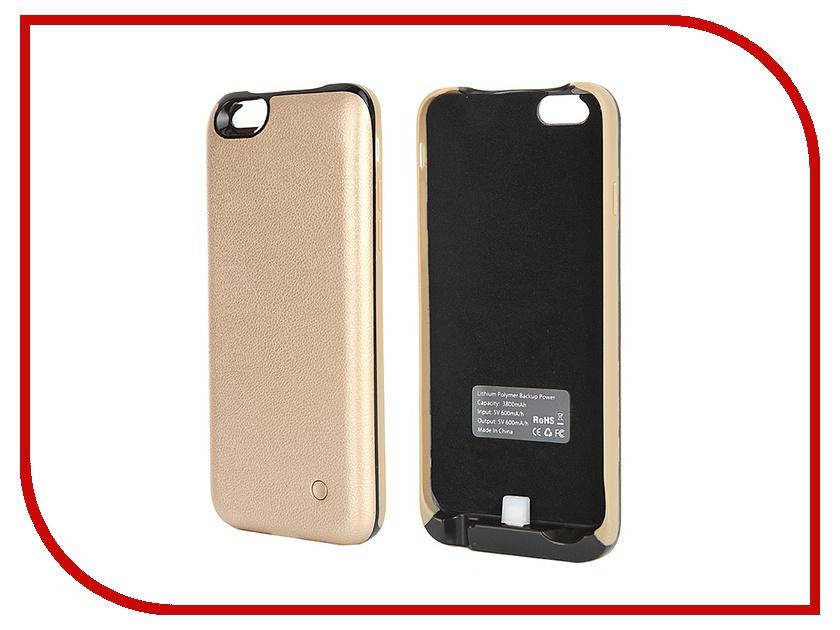 Аксессуар Чехол-аккумулятор Krutoff X4 3800 mAh для iPhone 6 Gold 48188