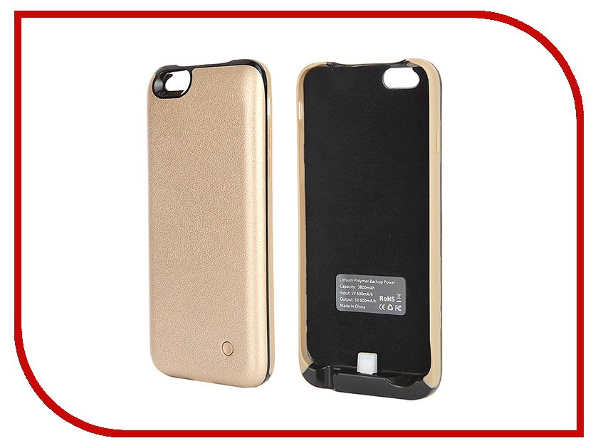 ��������� �����-����������� Krutoff X4 3800 mAh ��� iPhone 6 Gold 48188