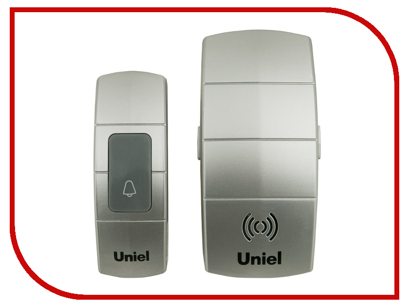 Звонок дверной Uniel UDB-088W-R1T1-32S-100M-SL Silver 05465
