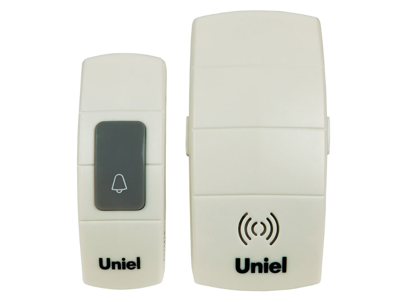 Звонок дверной Uniel UDB-088W-R1T1-32S-100M-WH White 05463<br>