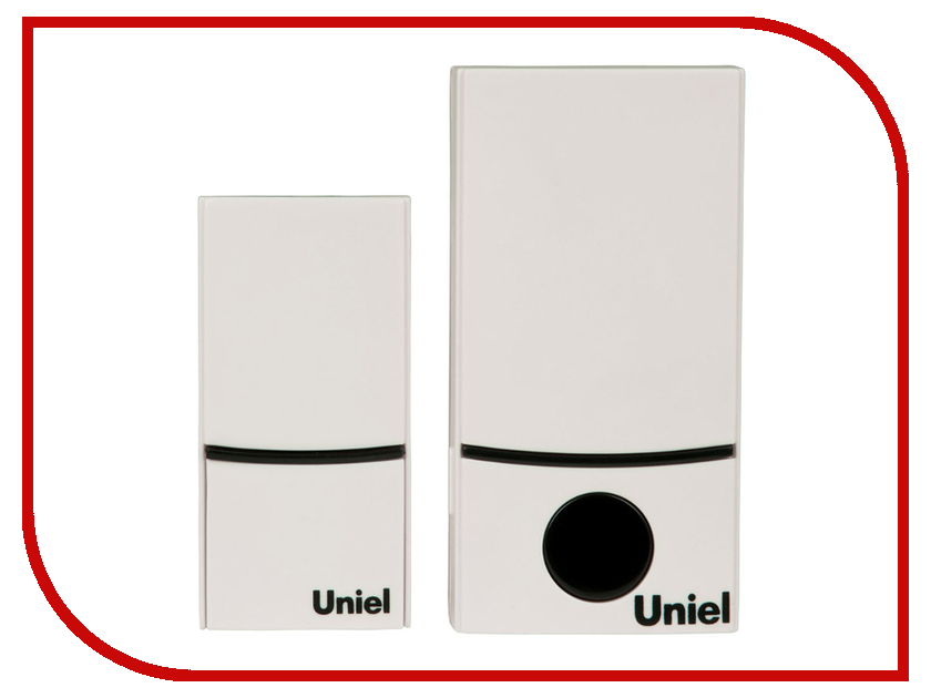 Звонок дверной Uniel UDB-089W-R1T1-32S-100M-WH White 05468