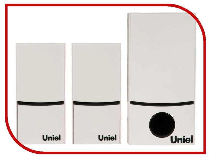 Звонок дверной Uniel UDB-090W-R1T2-32S-100M-WH White 05470 звонок дверной feron e 374 white blue 44164