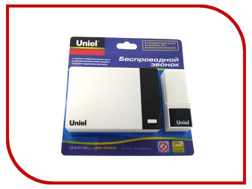 Звонок дверной Uniel UDB-006W-R1T1-32S-100M-WH White 03614