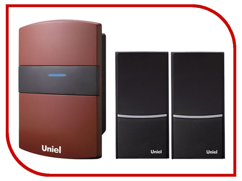 Звонок дверной Uniel UDB-004W-R1T2-32S-100M-RD Red 03617