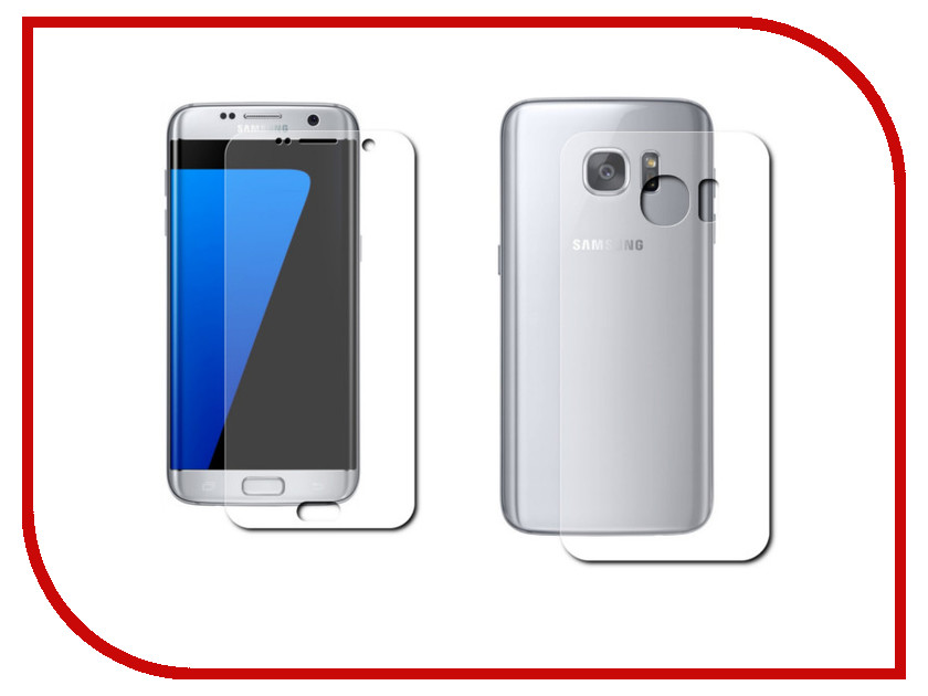 Аксессуар Защитная пленка Samsung Galaxy S7 LuxCase прозрачная На весь экран Front&amp;Back 88154<br>