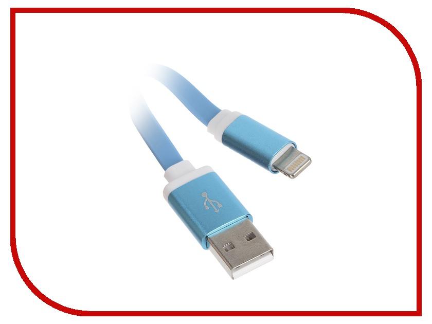 Аксессуар Krutoff USB - Lightning для iPhone 5/6 1m Blue 14266