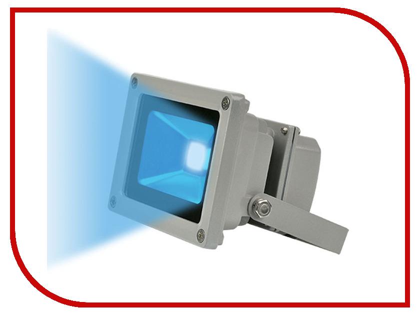 Лампа Uniel ULF-S01-10W/BLUE IP65 Grey 04739<br>